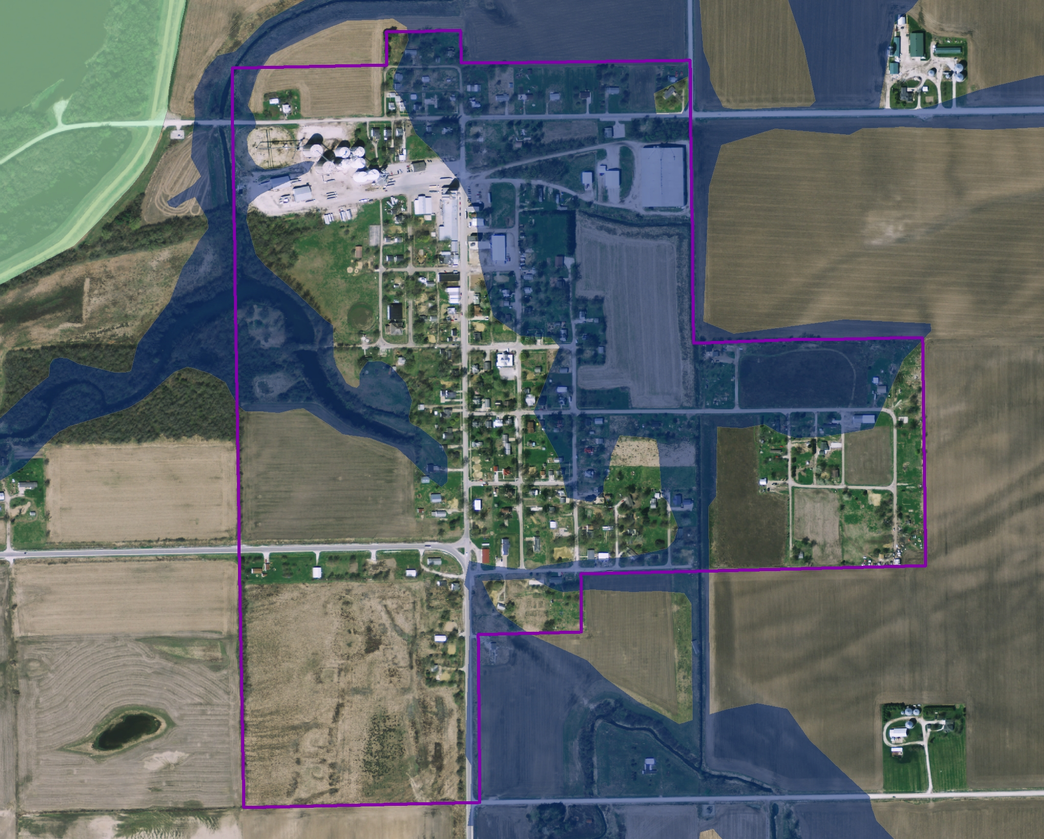 DNR Flood Map of Oakville, Ia.