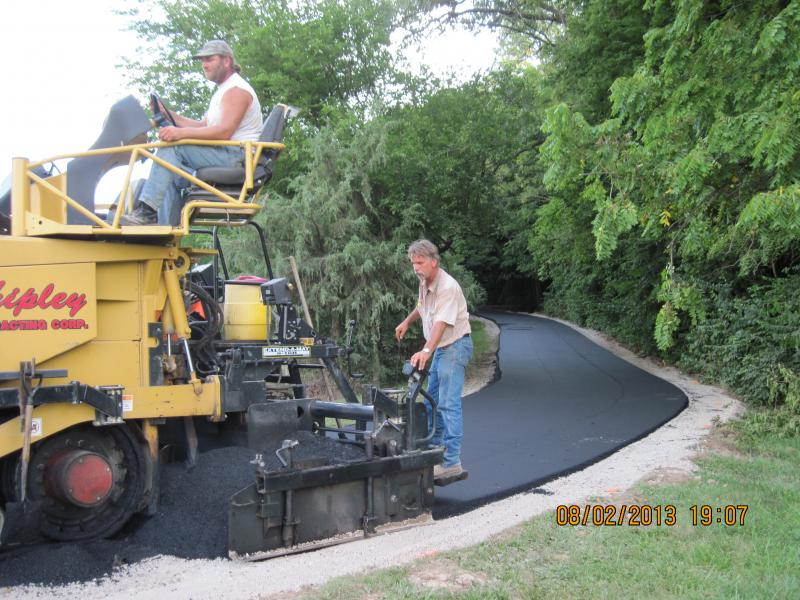 Last layer of asphalt on Edward's Cemetary Road